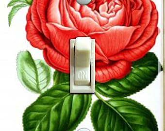 Red Rose 1878 Paul Neron Vintage IlIustration Decorative Switch Plate  ***FREE SHIPPING***
