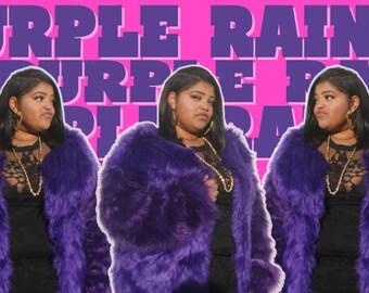 Deije Faux Fur Jacket - Purple Rain (Purple) (SOLD OUT)