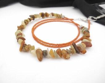 Beaded Lanyard, Lanyard Necklace, Key Lanyard, Rock Chips, Long Bead Necklace, Teacher Lanyard, Fashion Lanyard, Magnetic Clasp, Jade