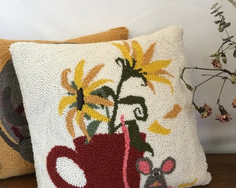 Punch Needle Pillow 14x14