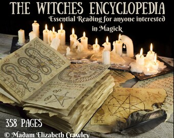 The Witches Encyclopedia RARE! 358 Pages of Essential Information For Anyone Interested in Magick Book Of Shadows Grimorie eBook Download