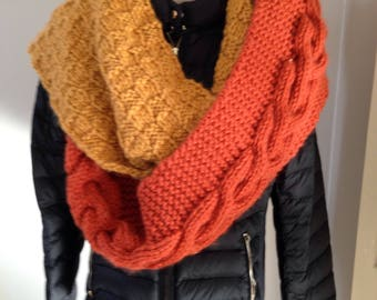 Three colors for women hooded long scarf