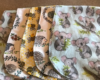 5 Pack neutral burp cloths for babies