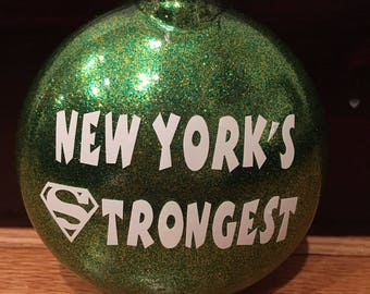 Department of Sanitation christmas ornament. I heart DSNY
