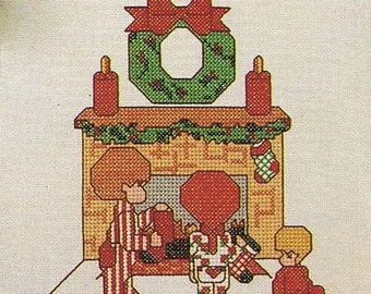 Christmas Kids Counted Cross Stitch Chart Pattern Book 29 Designs