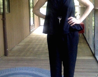 CUSTOM Top and Cropped Pants, Two Piece Jumpsuit, Pajama comfort for all day