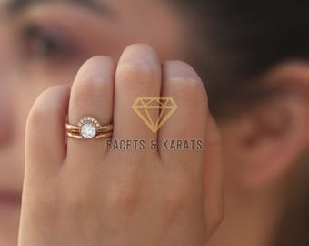 a k non ring engagement under wedding rings for traditional practical nontraditional