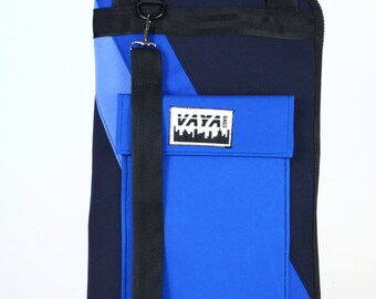 Blue Striped Drum Stick Bag