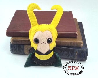 Loki plushie (made to order)