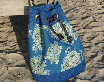 Blue Sea Turtle Bags