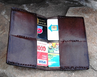 Slim Wallet Leather Credit Card Holder Front Pocket Sciatica Relief Mens Womens