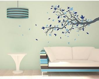 Floral Branch tree wall decal, sticker, mural, vinyl wall art