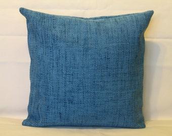 """Blue - Lavender - Turquoise - Velvet - Handmade - Throw pillow  - Cushion - Cover - 45 cm x 45 cm (18"""" x 18"""")"""