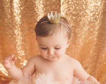 First birthday gold crown Gold glitter crown First 8aa97ff1c4c