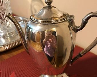 Vintage Gotham Silver on Copper Silverplate Coffeepot