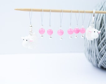8 Pink Sheep Markers - 6+1 markers - 1 progress marker - Ready to ship