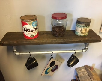 Industrial Coffee Bar Shelf