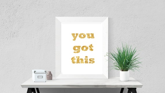 girly office accessories. Desk Accessories For Women Girly Office Art Cubicle Motivational Print Decor Inspirational Gold Quote Foil You Got This