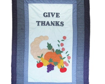 Beautiful Hand Quilted Thanksgiving Wall Hanging