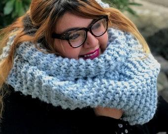 Infinity knit scarf, knit scarf, infinity scarf, winter scarf, handmade scarf, large knit scarf