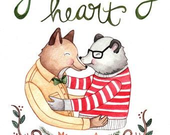 Melt My Heart Gay Valentine Card