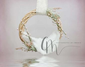 Hanging wreath digital backdrop