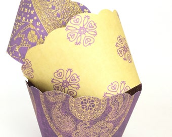 Boho Style Cupcake Wrappers - Weddings, Engagements, Showers, Birthdays, SALE