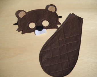 Beaver Mask and Tail for Child