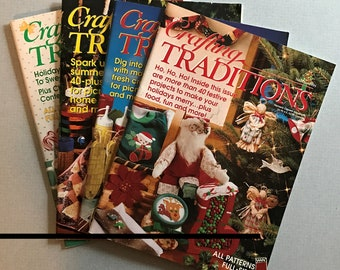 Lot of 4 Crafting Traditions Magazines, 1995-2001