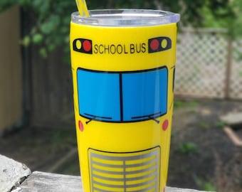 20oz school bus tumbler