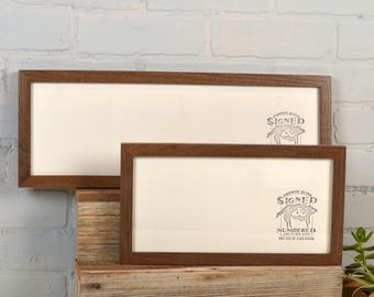 Panoramic Picture Frame in Peewee Style and Natural Wood Tone Color of Your Choice - Select Your Size: 6x12 - 6x18 - 6x24 - 6x30