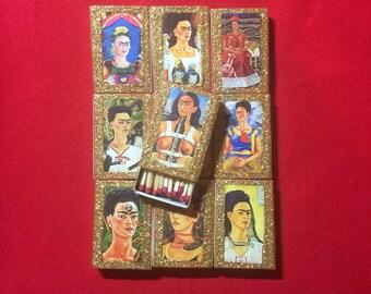 Set of 5 Frida Kahlo Matchboxes