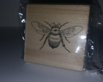 Bumble Bee Wooden Stamp