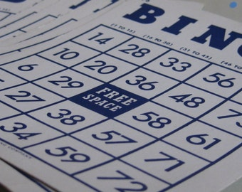 Bingo Cards -Set of 8