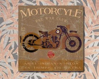 Motorcycle Vintage, Harley Davidson, motorbike, old sign, panel, motorcycles