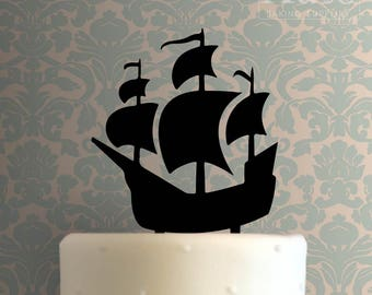 Pirate Ship 100 Cake Topper