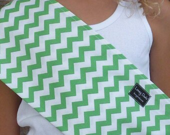 Just Like Mommy Baby Doll Sling-Perfect For American Girl Dolls-Green Chevron-Free Shipping When Purchased With a Wrap