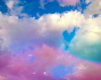 Rainbow Print, Rainbow Picture, Clouds Picture, Clouds Photo, Rainbow Photo, Rainbow Nursery Print, Rainbow Art, Cloud Print, Rainbow Clouds
