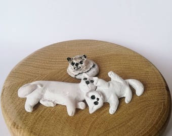 Cute cats, cats family, mother and childrens, animal, lovely cats, kittin, cats, cat, cat minifigurines, polymer clay cats, clay cat, mimimi
