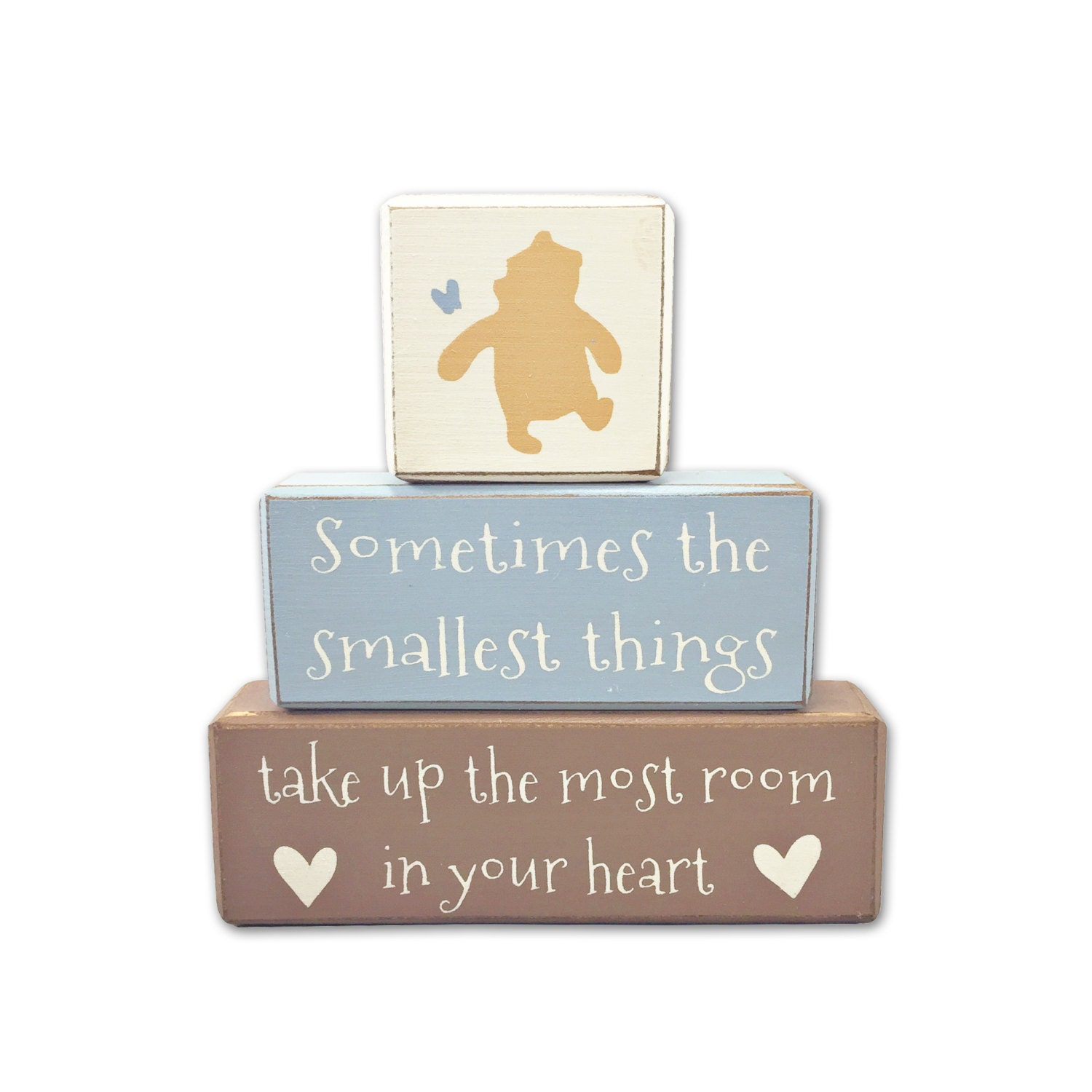 Quotes For Baby Shower Winnie The Pooh Baby Shower Painted Blocks Baby Shower