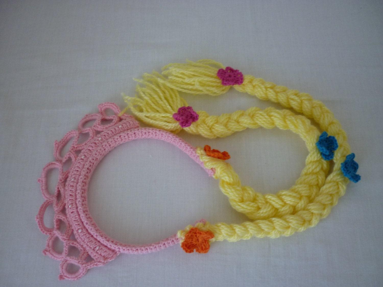 Crochet pattern Crown Rapunzel Hair Rapunzel Rapunzel Tiara