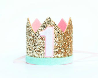First Birthday Outfit Girl  | Girl Birthday Crown | Birthday Girl Outfit | Girl Party Hat | First Birthday Photo Prop | Cake Smash Crown