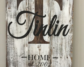 Last name sign, pallet sign, name sign, pallet signs, last name signs, established signs, wedding signs, name signs, home sign, rustic sign