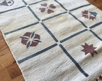 Wool accent rug