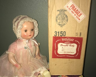 "Antique All Original 16"" Composition Doll"