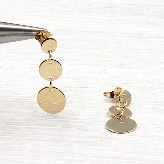 gold plated earrings 3 tablets 18 ct 3 microns