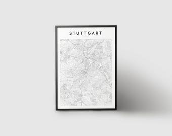 Stuttgart Map Print