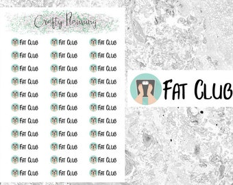 Fat Club Stickers, Slimming World, Weight Watchers, Weigh In, Reminder Stickers, Planner Stickers, Weight Loss Stickers