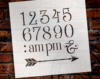 Wedding Sign Stencil - Numerals & Embellishments - Elegant Traditional - Select Size- STCL1668 - by StudioR12