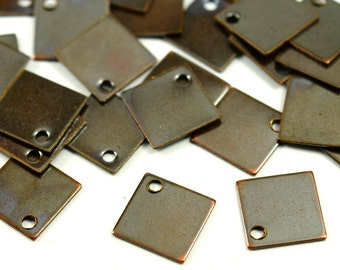 100 Pcs Copper Plated 9x9 mm  Square Findings